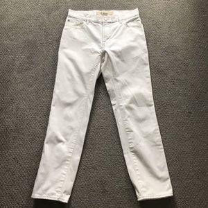 VINTAGE GAP BOOT CUT WHITE JEANS